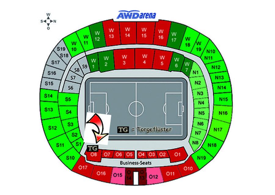 Hannover 96 Stadionplan